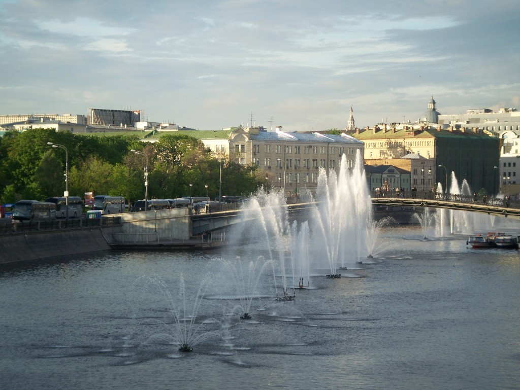 Fountains on Moscow River