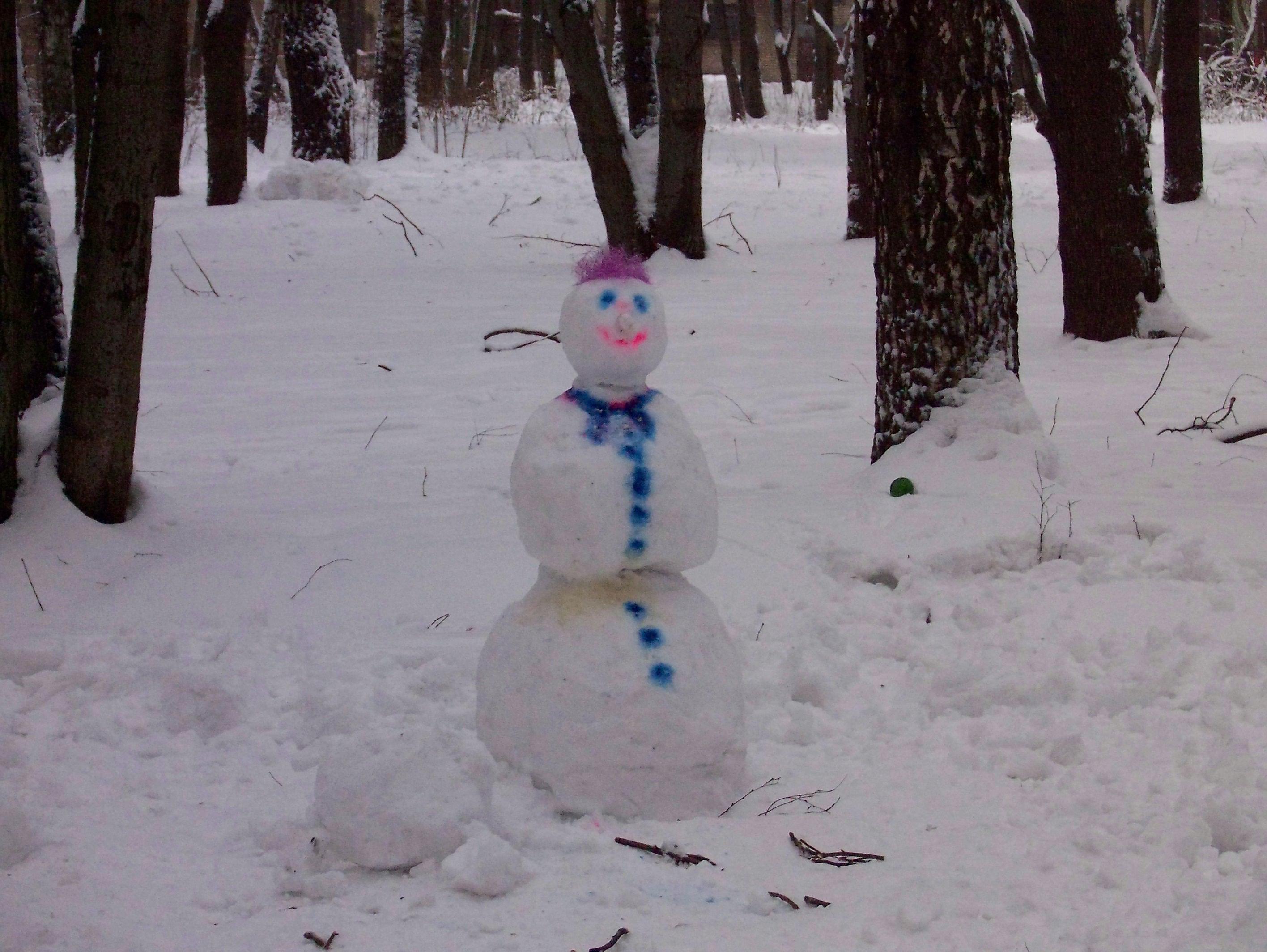 Russian Snowman (Snowwoman - Snezhnaya baba)