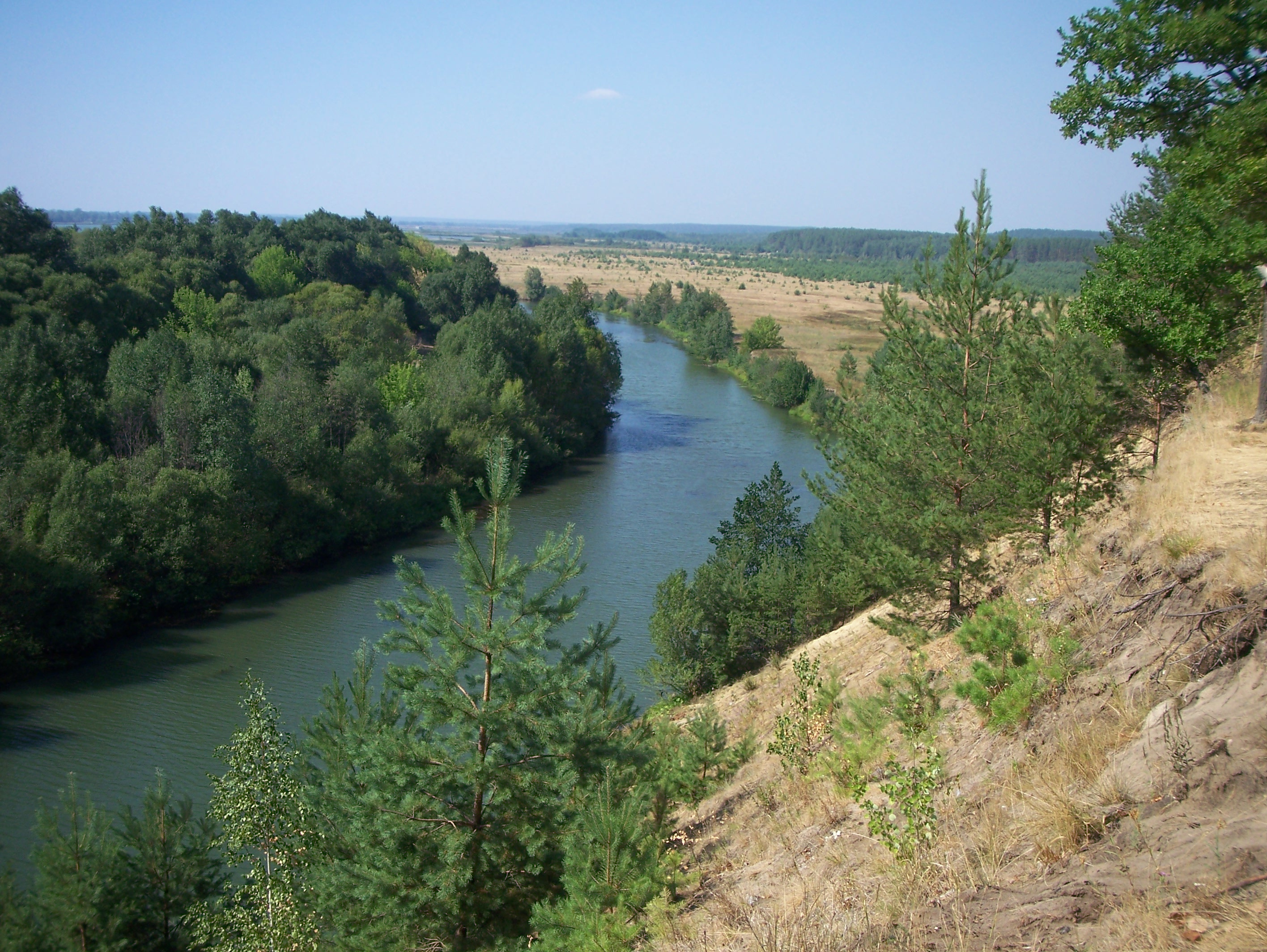 Russian country side: River view from the hill