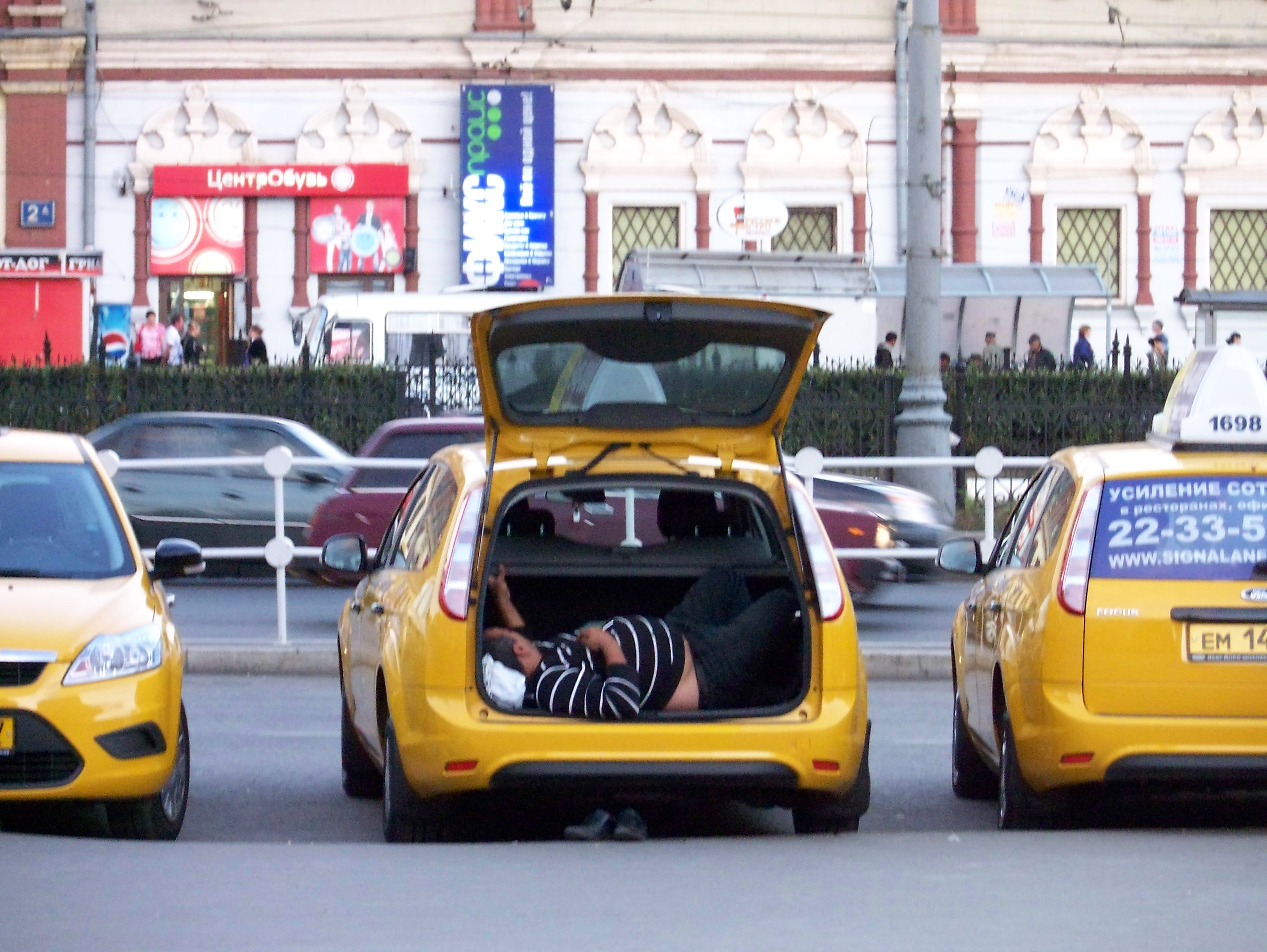 Russian Taxi in Moscow